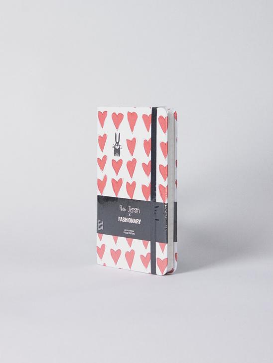 P. Jensen Red Heart Notebook