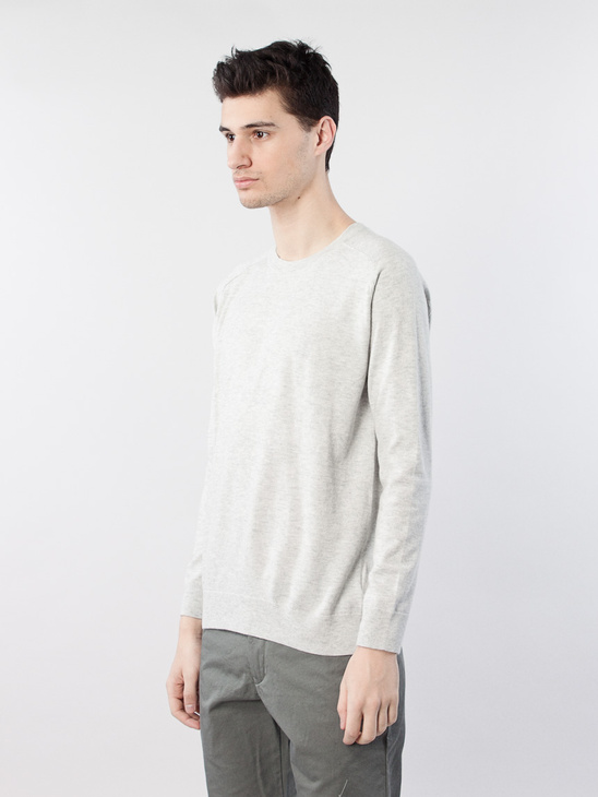 Cotton Merino Sweater Ivory