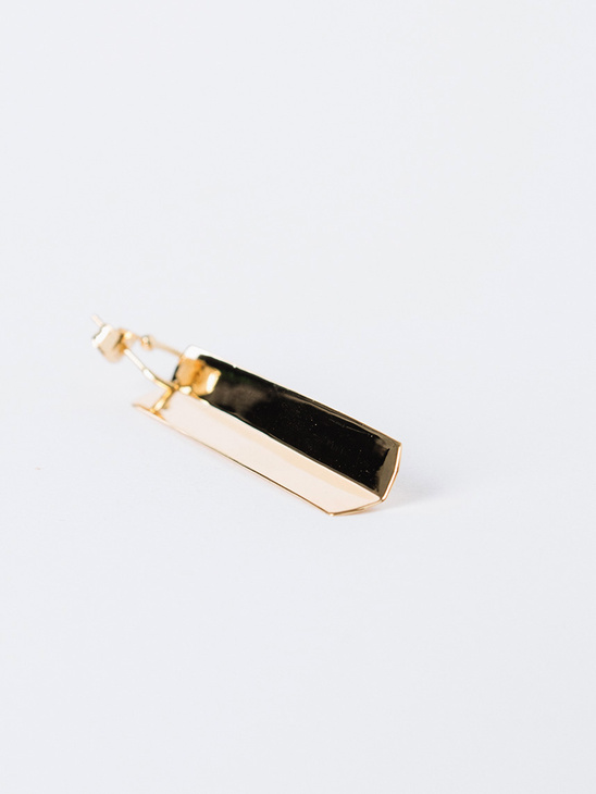 Snick Earring - Gold Plated Silver