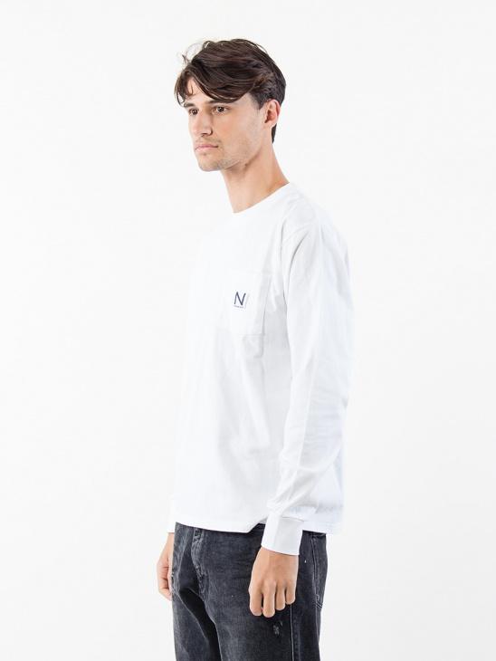 Pocket L/S Tee White