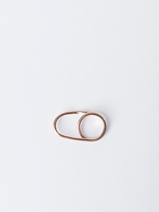 Wire Squared Rose Gold S 17.5