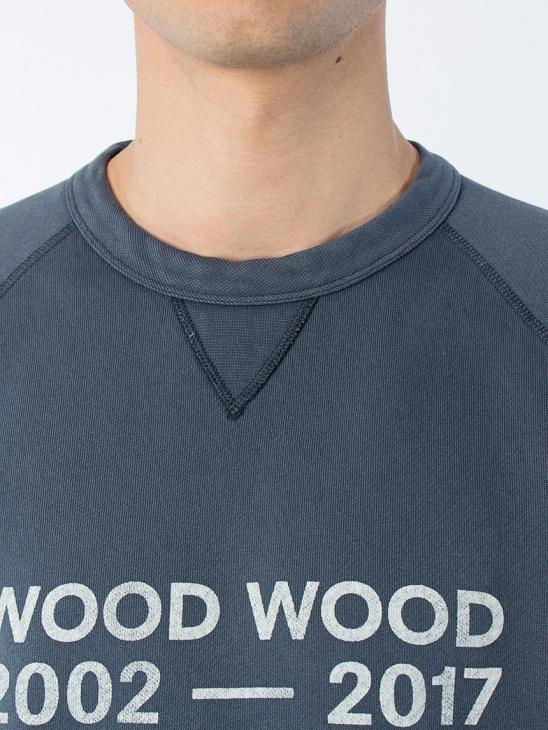 APLACE Hester Sweatshirt Navy - Wood Wood