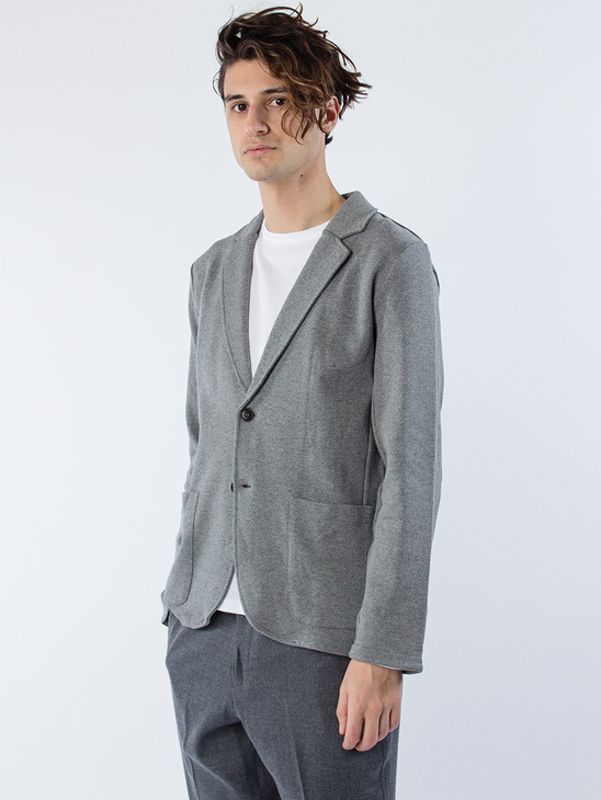 Casual Blazer Grey Melange