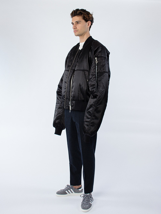 Grand Bomber Jacket Black