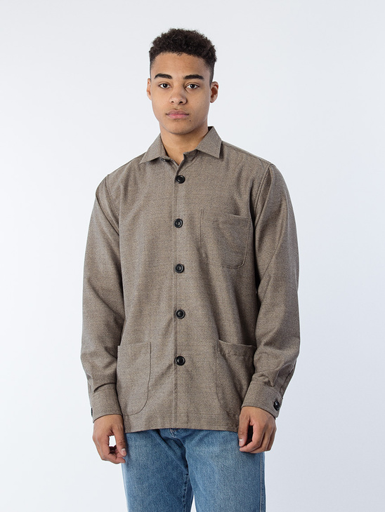 Overshirt Virgin Wool Sand