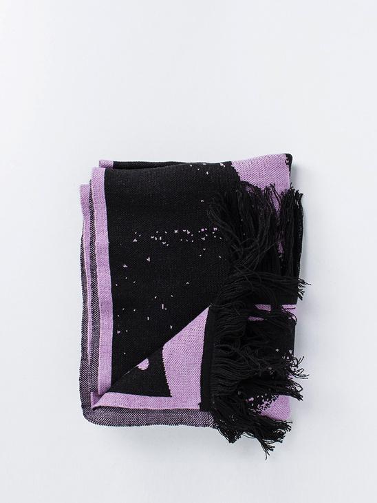 Spray Scarf Black/Purple