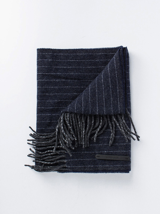 Heaton Pin Stripe Dark Navy