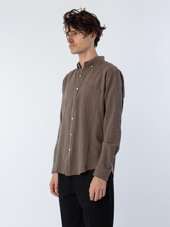 Needs Crêpe Shirt Mud
