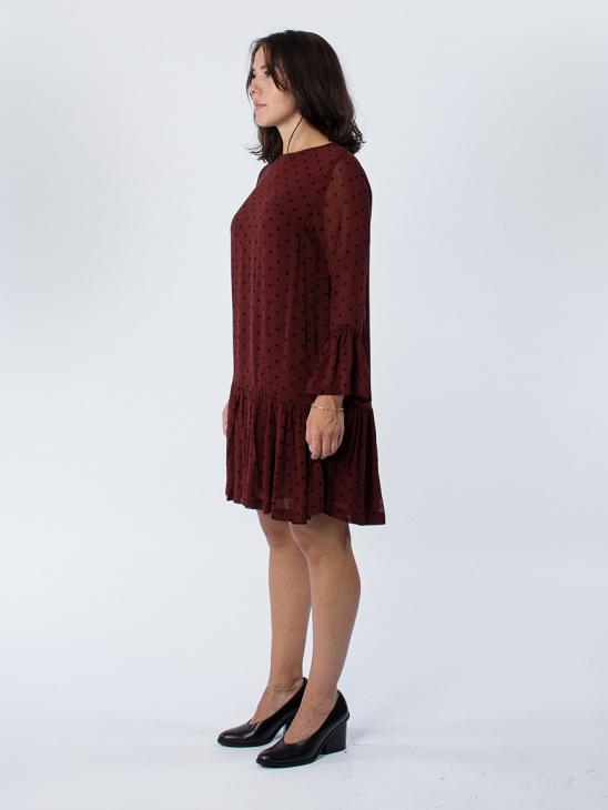 Carlton Georgette Dark Chocolate Dress