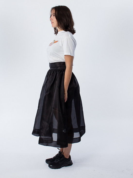 Seneca Silk Black Skirt