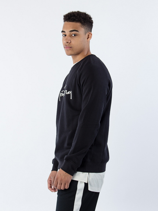 Crew Neck Signature 75 Blk