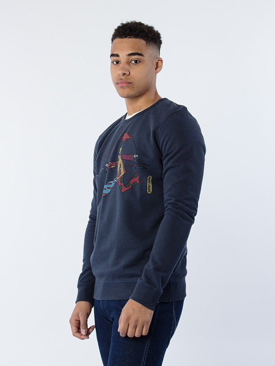 Chi Runner Sweatshirt Navy