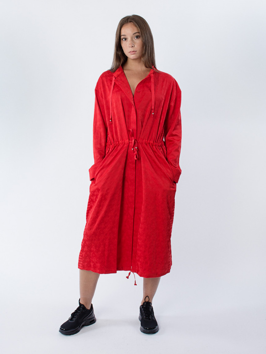 Tonal Jacquard Sacca Dress