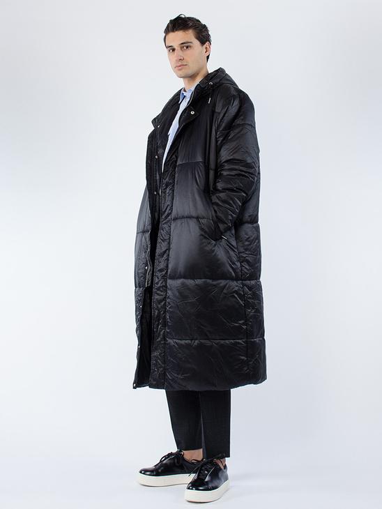 Puffy Hood Coat Black