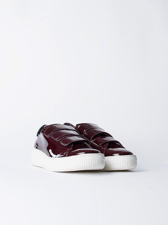 Velcro Sneakers Low Top Red