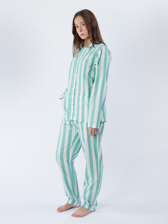 Uno Pyjamas Turquoise White