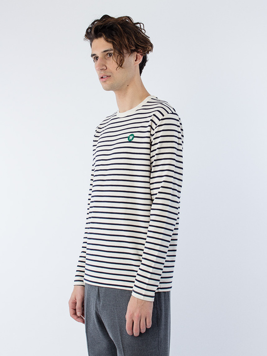 Mel Long Sleeve Navy Stripes