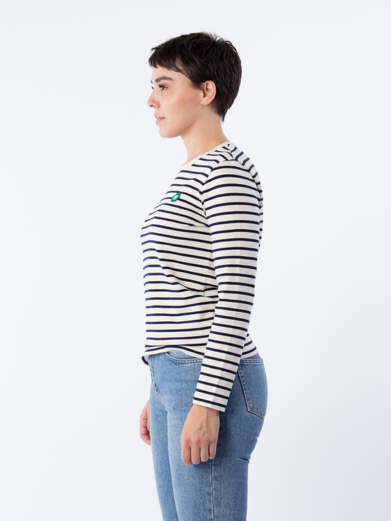 Moa Long Sleeve Navy stripes