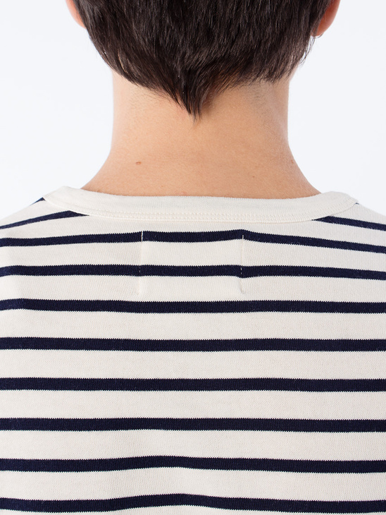 APLACE Moa Long Sleeve Navy stripes - Wood Wood