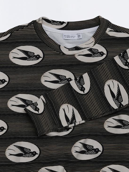 Sweatshirt Black Bird