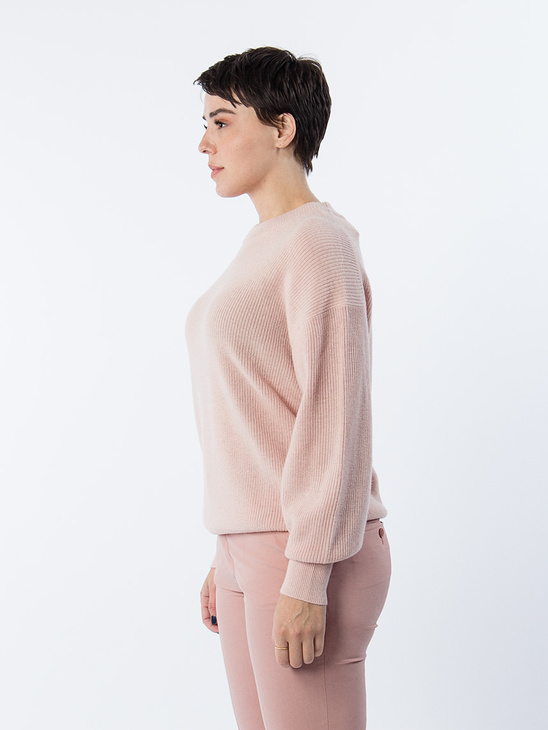 Wool/Cashmere Rib Pullover