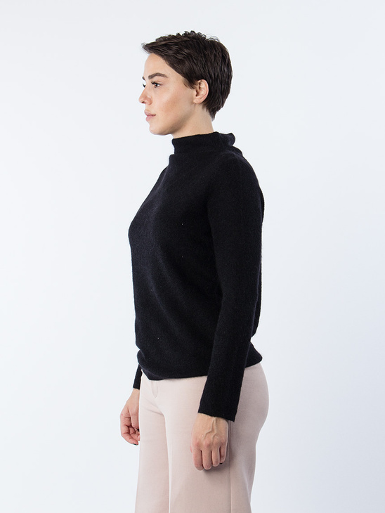 Mohair Mock Neck Pullover