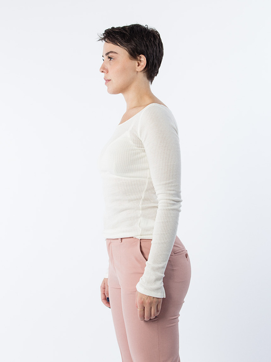 Open Neck Rib Top