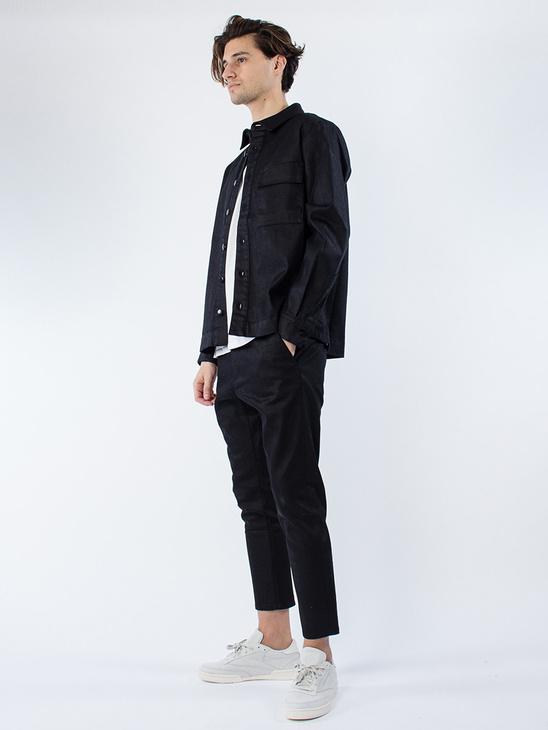 Slim Shirt Wax Black