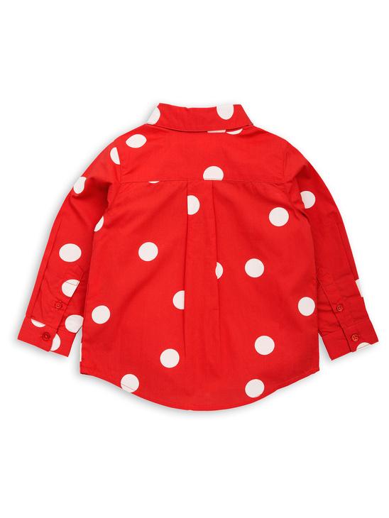 Dot woven shirt red