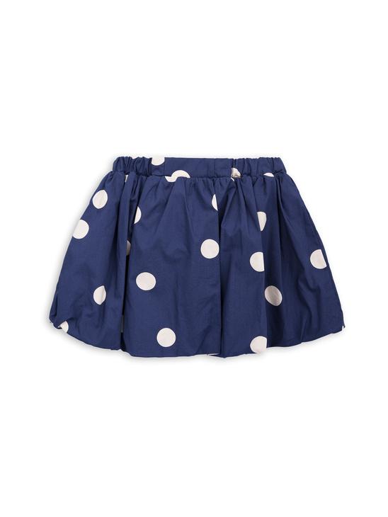 Dot woven skirt navy