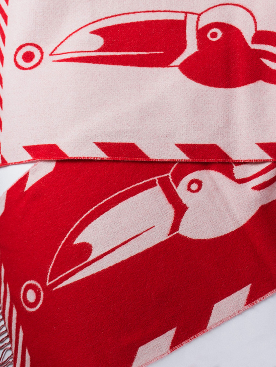 Toucan Scarf Red