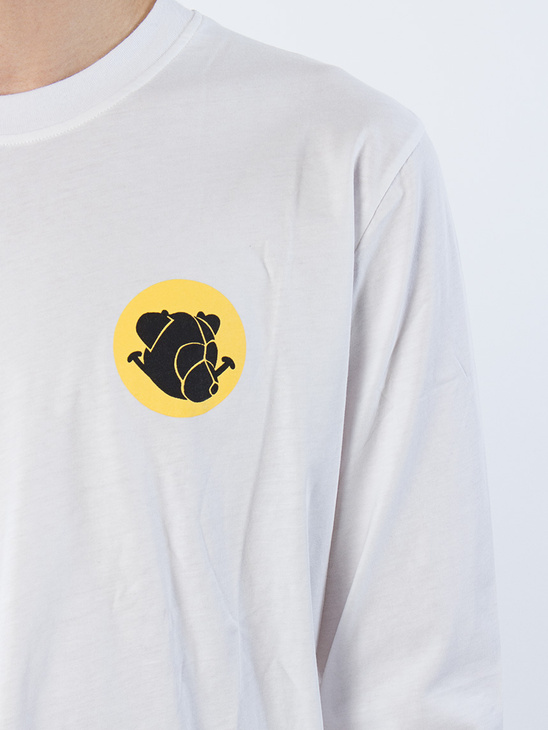 Printed Smiley Ls Tee White