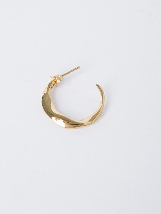 Molded Organic Hoop Earring G