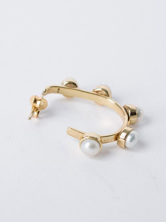 Pearled Hoop Earring S