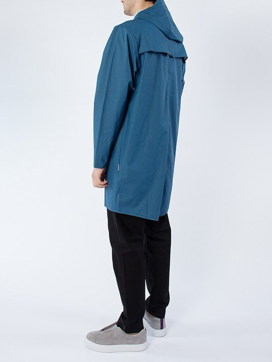 Long Jacket Faded Blue