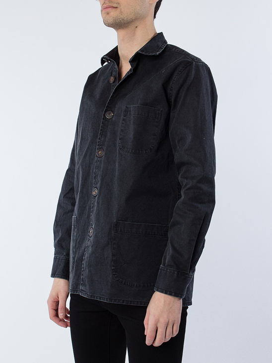 Overshirt Overdyed One Black