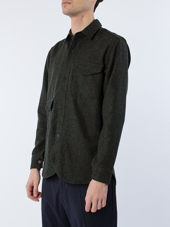 Army Shirt Tweed Army