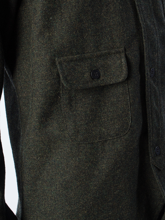APLACE Army Shirt Tweed Army - Han Kjøbenhavn