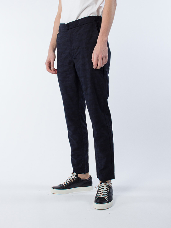 Illusion Trouser Navy Jaquard