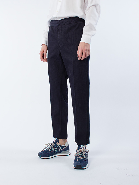 Illusion Trouser D Navy Stripe