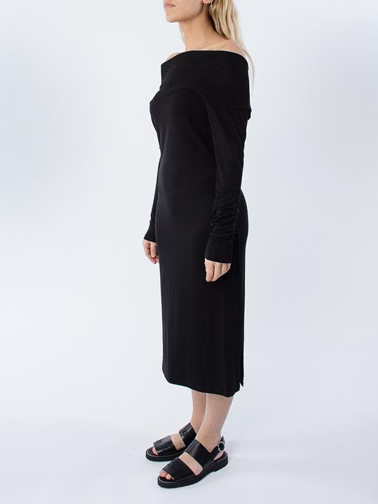 Rib Neck Dress