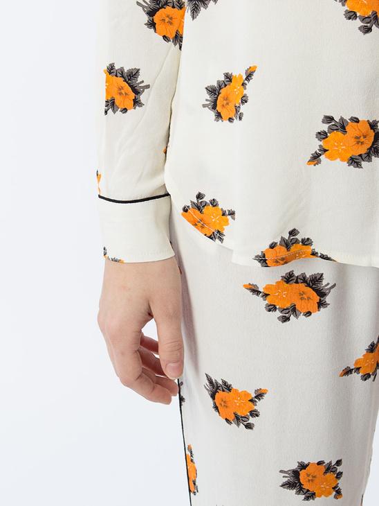 APLACE Roseburg Crepe Shirt - Ganni