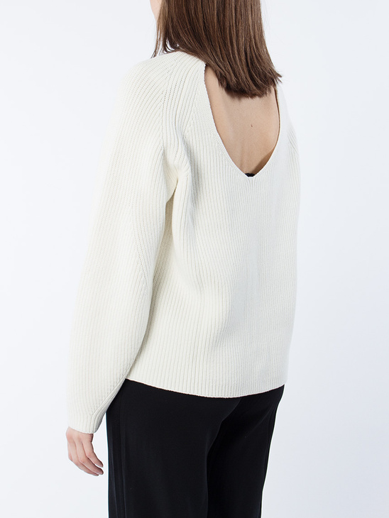 Sculptural Cotton Sweater
