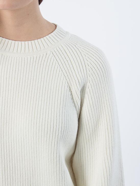APLACE Sculptural Cotton Sweater - Filippa K