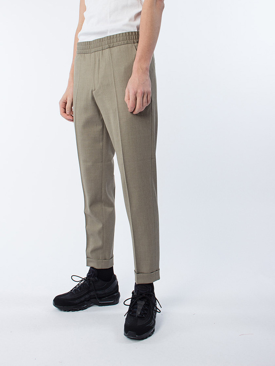 M. Terry Gabardine Cropped Trousers Olive