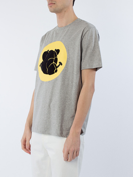 T-Shirt w/print Grey Melange