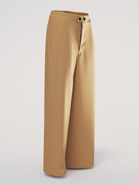 Wide Trousers Beige