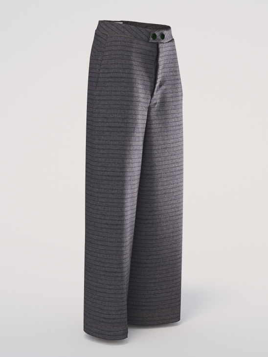 Wide Trousers Pinstripe