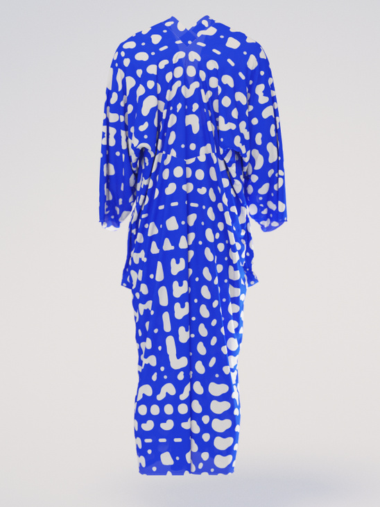 Caftan silk blue