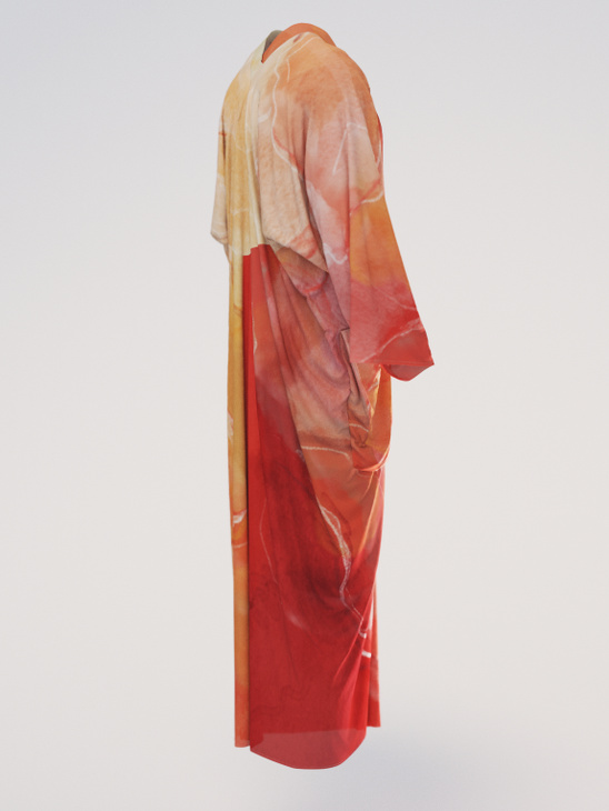 Caftan silk red